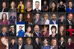 COllage of professional business portraits by Firefly Photography